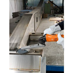 Sanding Fillet Welds