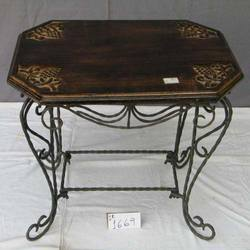 Wooden and Iron Table
