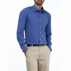 Plain Blue Formal Shirt