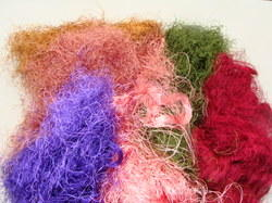 Multicolored Sari Silk Fiber for Spinners, Textile Artists