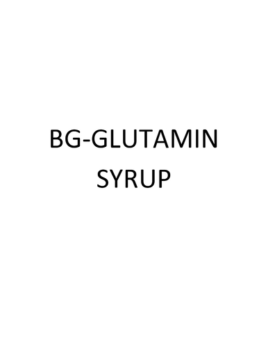 Bg-glutamin Syrup