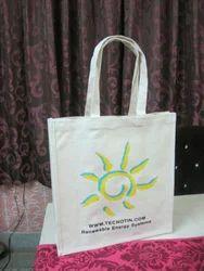 Printed Sun Symbol Jute Bag