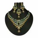Red Stone Kundan Necklace Set
