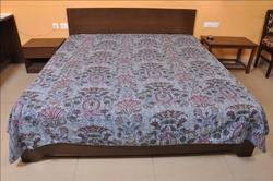 Cotton Kantha Mughal Bed Cover