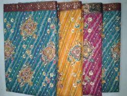 Supernet+Chunri+Embroidery+Saree