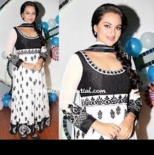 Bollywood White & Black Designer Suit