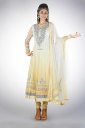 Ombre Shaded Gold Anarkali