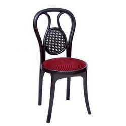 Plastic Chair With Cushioned Seat