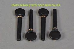 Ebony Baroque with Gold Pin