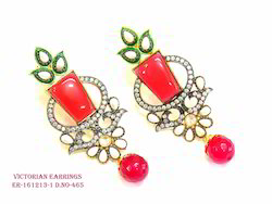 Red Victorian Earring