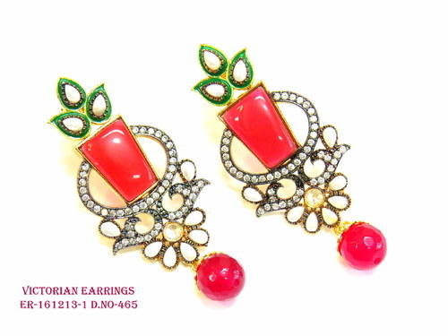 Exclusive Red Victorian Earring