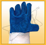 chrome leather heat resistance hand gloves