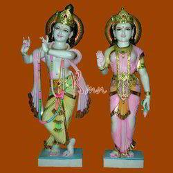 Marble Yugal Radha Krishna Statue