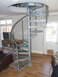 Genial Stainless Steel Spiral Staircase