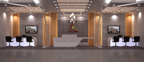 Interior design office reception area in vaishali sector 3 for Interior designers in my area