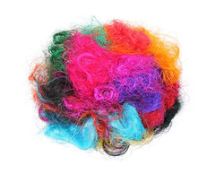 Multicolored Sari Silk Fibers for Spinners, Weavers