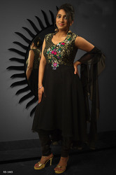 Beautiful Black Readymade Salwar Kameez
