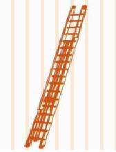 aluminum wall mounted extension ladder