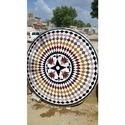 Exotic Inlay Wheel Pattern Table Tops