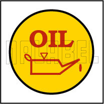 840300 oil change stickers