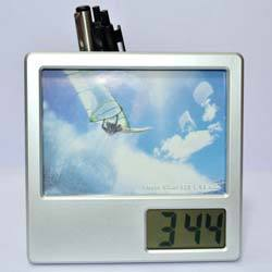 Digital Clock & Photo Frame with Pen Stand