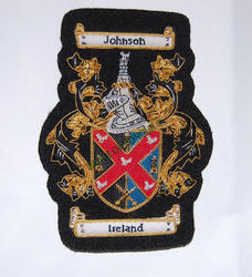 Johnson/ Ireland-Single Small B/ B Badge