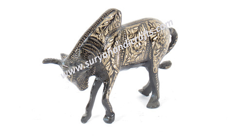 Brass Engraved Bull