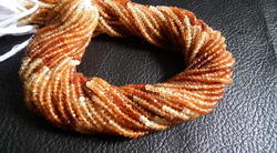 Shaded Hessonite Faceted Beads