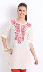 Classic Embroidery On Soft Cotton Fabric Kurta Kurt