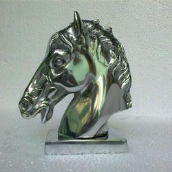 Aluminum Horse Head Statue