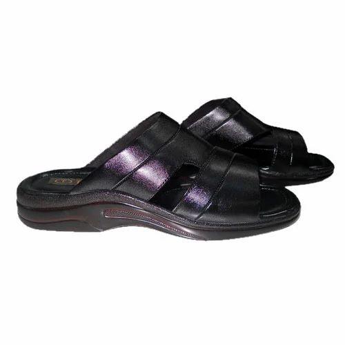 Gents Black Slippers