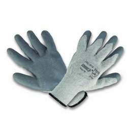 Poly-Cotton Knitted Gloves Grey