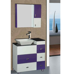 White Purple Floor Mounted Vanities Cabinets
