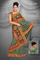 Multicolor Georgette & Net Saree