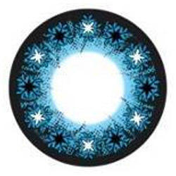 Cluster Blue Star Color Contact Lens