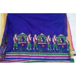 Embroidery Chanderi Fabric