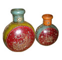 Iron Painted Pot Set of 2