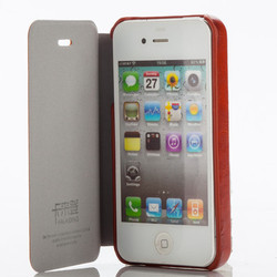 Mobile Leather Case Cover For Apple iPhone 4