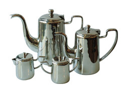 SS Coffee Pots W Milk & Sugar Pot