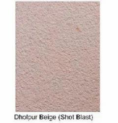 Dholpur Beige Sandstone Shot Blast