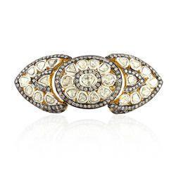 rose cut diamond long ring