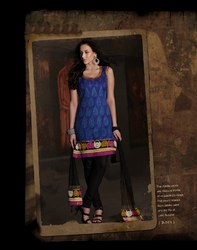 Blue Readymade Suit Fashionable Wear