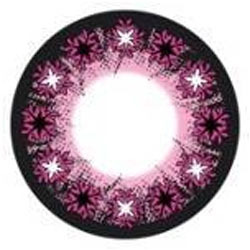 Pink Crossing Color Contact Lens