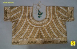 ready made golden color blouses