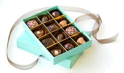 Custom Made Chocolate Boxes With Dividers And Ribbon Ties
