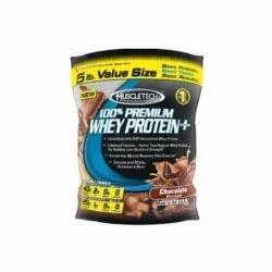 MuscleTech 100% Premium Whey Protein +, Chocolate 5 lb