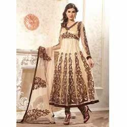 Mesmerizing Cream Colored Anarkali Suit