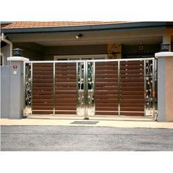 Stainless Steel Gate Designs With Wood Get Best Quote