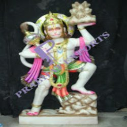 Marble Lord Sitting Hanuman Statue