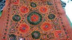 Kutch Mirror Work Cushion Cover